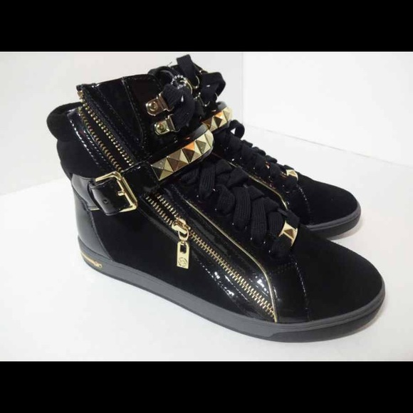 29d55c4d4fbac Michael kors black and gold hightop sneakers. M 551d68c2d3a2a7608400362c