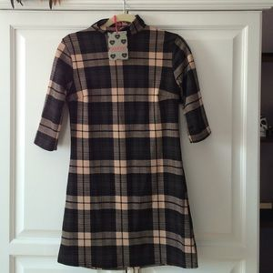 Boohoo plaid shift dress