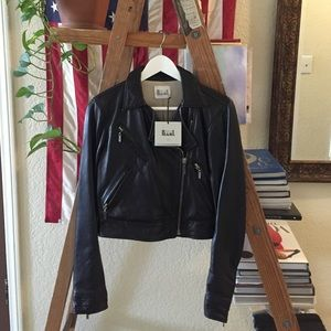 Made For Pearl Jackets & Blazers - Made For Pearl Moto/Biker Leather Jacket