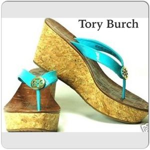 NEW Tory Burch Thora Leather Wedge New/w/Box
