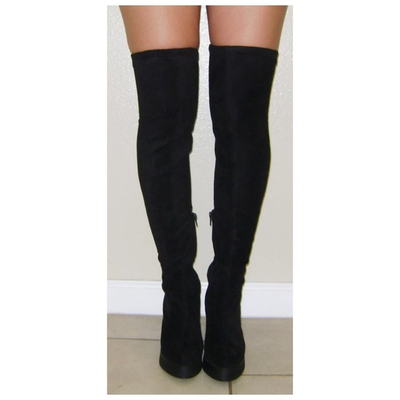 99% off Miista Boots - Miista Emi Over the knee/thigh high boots ...