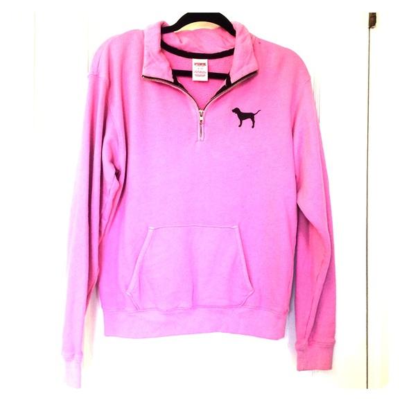 60% off PINK Victoria's Secret Sweaters - Pink VS PINK 1/4 zip ...