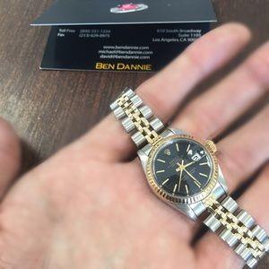 Rolex Jewelry - Rolex Ladies Datejust Two Tone Black Authentic