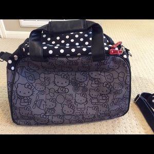6a7d186273e Sanrio Bags   Hello Kitty Black Polka Dot Suitcase Travel Bag   Poshmark