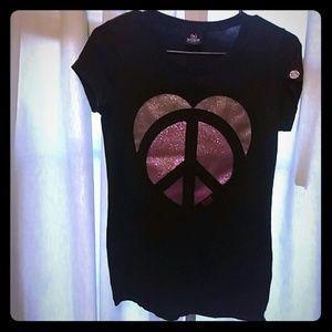 VS peace and heart t shirt