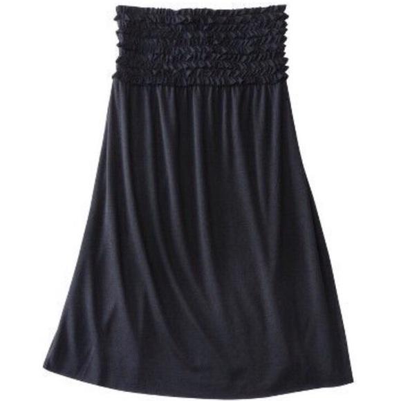 Xhilaration Swim Cover Up Black Tube Dress NWT
