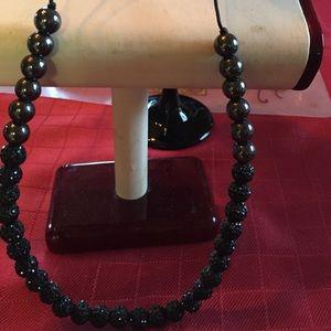 Ashley bridget Jewelry - Ashley Bridget Black Beaded Necklace.