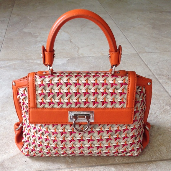 6e02204620c Ferragamo Handbags - LIMITED EDITION Ferragamo Woven Sofia Bag