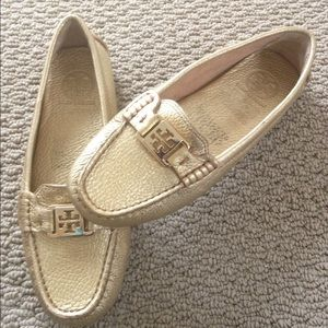 ✨Host Pick✨Tory Burch Gold Loafers