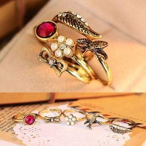 5 Piece Knuckle Ring Set