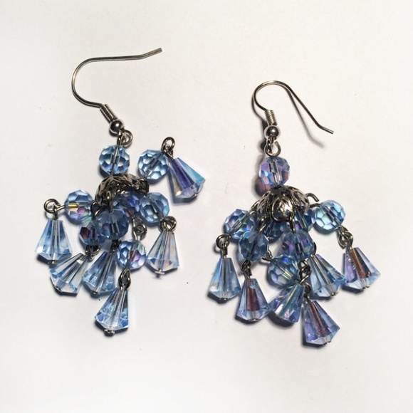 sparkly chandelier earrings os from natalie s closet on