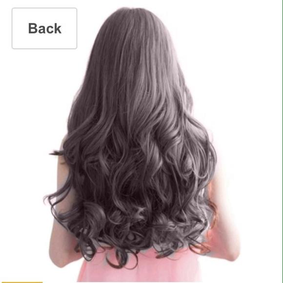 Accessories Sold Dark Black Wavy Hair Clip On Extensions Poshmark