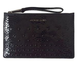 🎉FLASH SALE!🎉MK Rhea Crystal Black Wristlet
