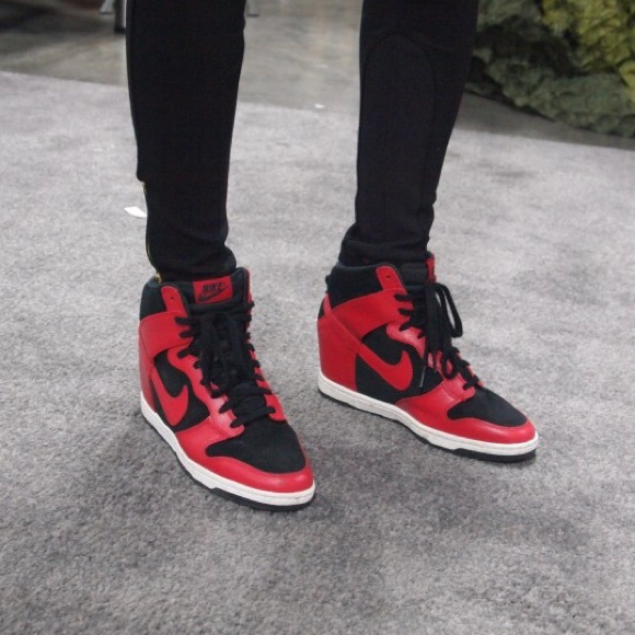 nike nike sky hi dunk wedge sneaker tennis shoes from