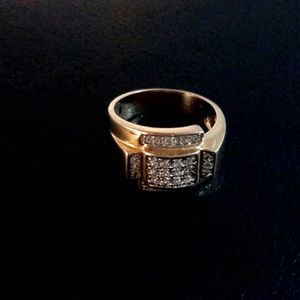 14k gold plated w/ real Diamonds - Men's style