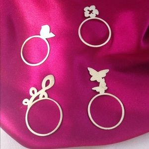 Carrie Saxl Jewelry - Sterling Silver Laser Cut Rings