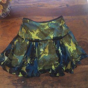 Rare Diane vonFurstenberg Flirty Bird Skirt