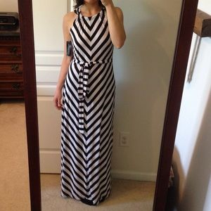 HP• STRIPED MAXI DRESS