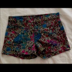 7 For All Mankind Floral Denim Shorts