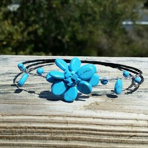FINAL SALE: Turquoise choker necklace