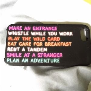 Kate spade neon sign iphone5 case