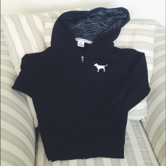 62% off PINK Victoria's Secret Sweaters - PINK brand black zebra ...