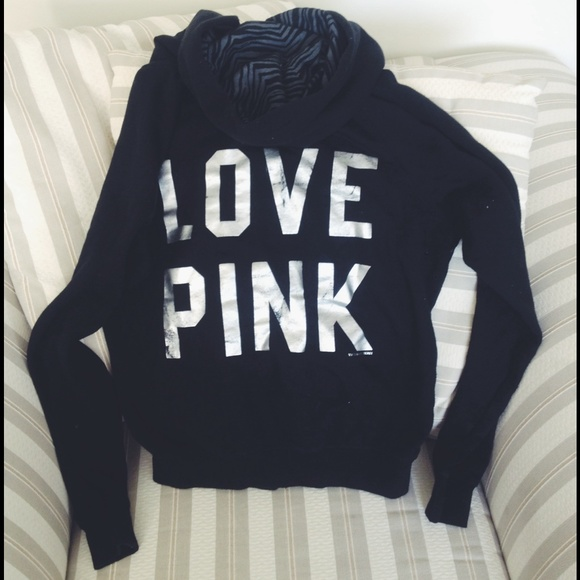 62% off PINK Victoria's Secret Sweaters - PINK brand black zebra ...
