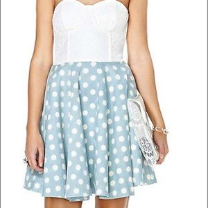 #1200 Mink pink dot dress