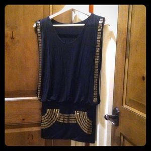 **HOST PICK**.  NOT ZARA.  Black mini dress