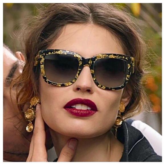 2535bc8744a1 Dolce   Gabbana Accessories - 💃Editor Pick💃Dolce   Gabbana GoldLeaf  Sunglasses