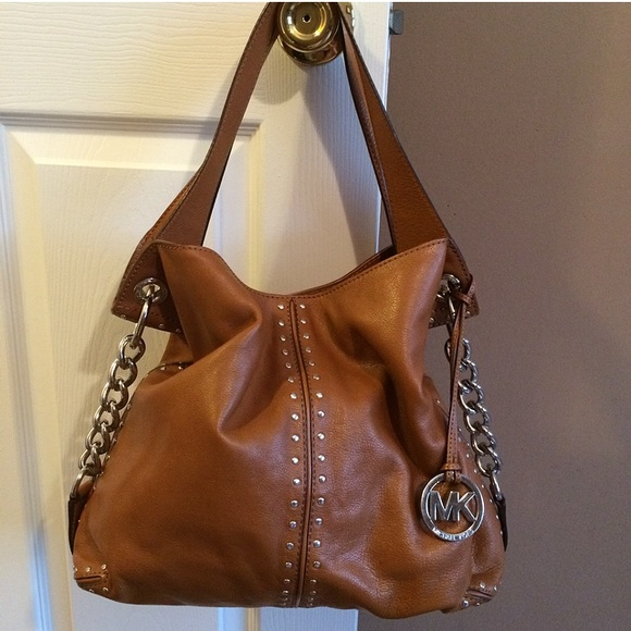 d49231c70d60f Michael Kors Camel studded hand shoulder bag! M 551ee20b620ff71f670034df