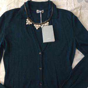 Malo Sweaters - Green cardigan