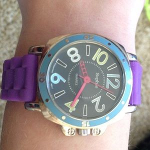 COLLEZIO WATCH GOLD Face with Animal Print Ladies ...