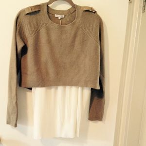 Cashmere crop.military sweater⚡️sale