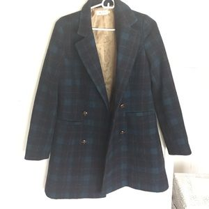 Miss patina Outerwear - Miss patina sold out blue plaid coat size medium