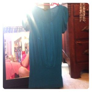 Forever 21 Teal Tunic Top