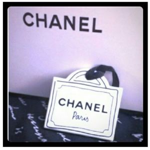 Auth chanel Ornametal bag tag