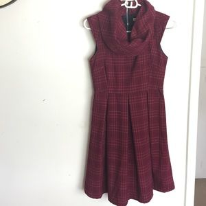 Target Dresses & Skirts - Plaid 60s style big collar dress size 5 / small