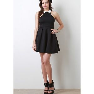 "1DAYSALE ""Black Tie Event"" Flare Collared Dress"