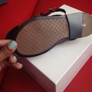 edee1bcae Gucci Shoes - Gucci boys brown two tone sandal size 29