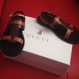 edee1bcae Gucci Shoes - Gucci boys brown two tone sandal size 29