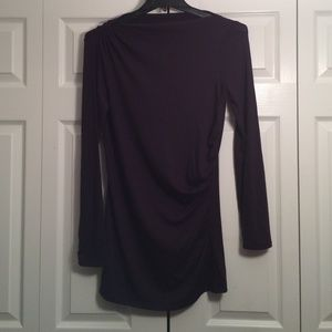 Ann Taylor Dresses & Skirts - Dark purple ruched mini dress