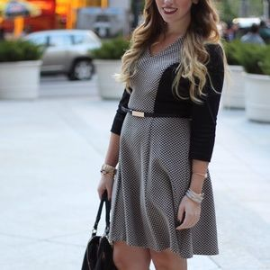 London Times Dresses & Skirts - Black & Taupe Sweater Dress