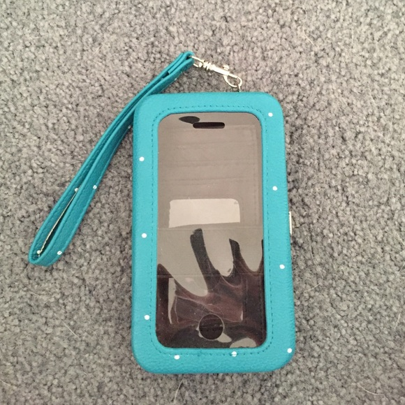 new concept 05835 bf43c Polka dotted iphone 5/5s phone case Wallet
