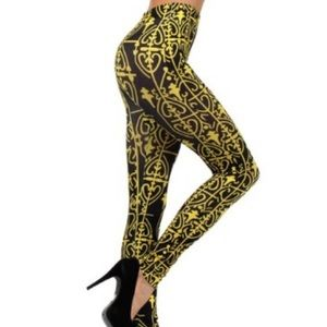 Victorian African Ethnic Sublimation Leggings