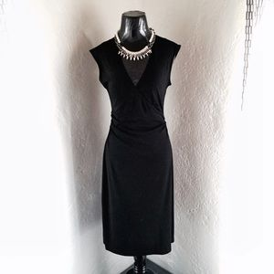 BCBG Black V-Neck Dress