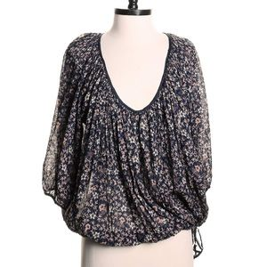 Free people floral boho top