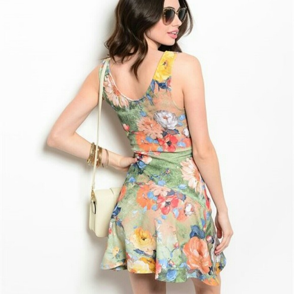 38% off Dresses & Skirts - Sale! FLORAL SUMMER DRESS MULTI COLOR ...