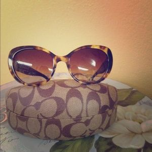 Coach Sunglasses, New with Tag. Tortoise and black