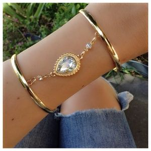"Gold Jeweled Cuff ""The Jenna"""
